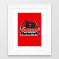 thundercats Framed Art Prints featuring  thundera university by Buby87