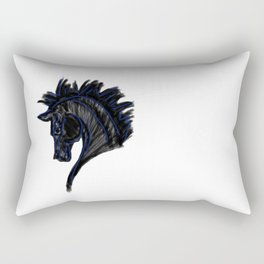 Black Horse Rectangular Pillow