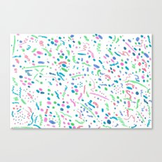 Confetti Splatter Pattern Canvas Print