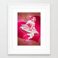madoka Framed Art Prints featuring Madoka Kaname by Roots-Love