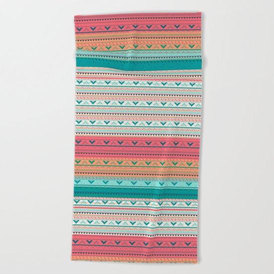 Vintage pattern - Spring Beach Towel