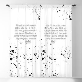 Caring too much for objects can destroy you- The Goldfinch Blackout Curtain