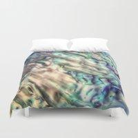 mermaids Duvet Covers featuring MERMAIDS SECRET by Monika Strigel