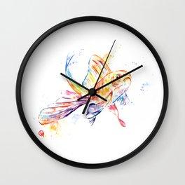 Gold Fish Wall Clock