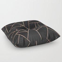 Velvet Black & Rose Gold Floor Pillow
