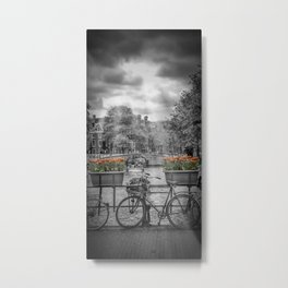 AMSTERDAM Gentlemen's Canal | upright panoramic view Metal Print