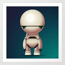 Marvin the Paranoid Android Art Print