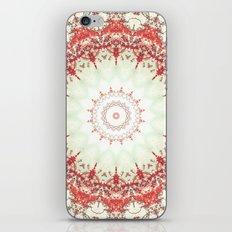 Autumn's Splendor Mandala -- Russet Red Leaves on Pale Mint iPhone & iPod Skin