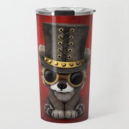 Steampunk Baby Raccoon Travel Mug
