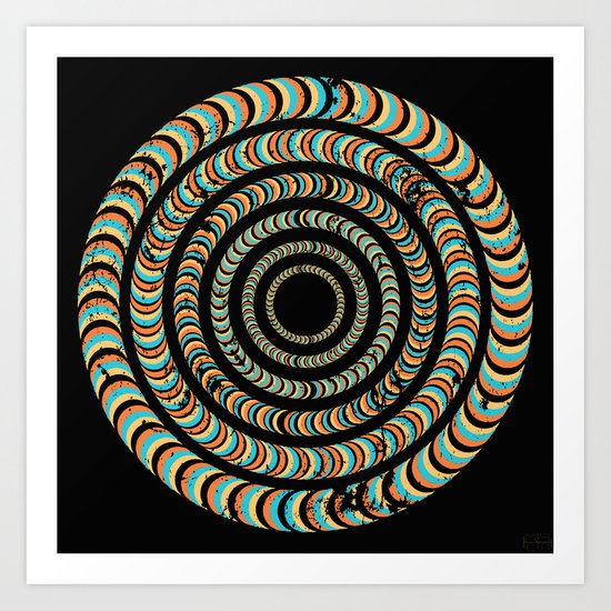 Slow Spin Art Print