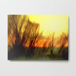 Glow Metal Print