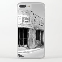 Old Supermarket Clear iPhone Case