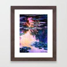 Monet : Water Lilies Framed Art Print