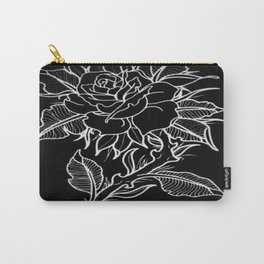 Dark Rose Carry-All Pouch