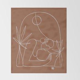 Dreamers no.4 (terracotta) Throw Blanket