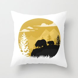 Bear Valley Throw Pillow
