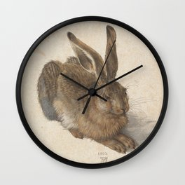 Hare by Albrecht Dürer Wall Clock