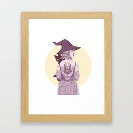 Cat Witch Framed Art Print