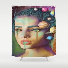 Hidden Constellations Shower Curtain