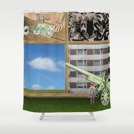 An der Schwelle zur Freiheit · a day with Magritte 1 Shower Curtain