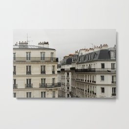 Traditional Paris Rooftops  Metal Print