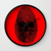 grand theft auto Wall Clocks featuring Identity theft by Ismael Sandiego