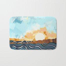 Summer Beach Sunset Bath Mat