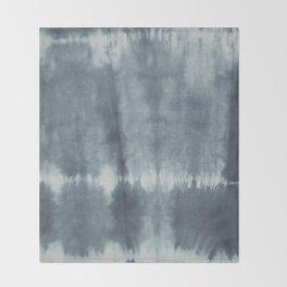 Tye Dye Gray Throw Blanket