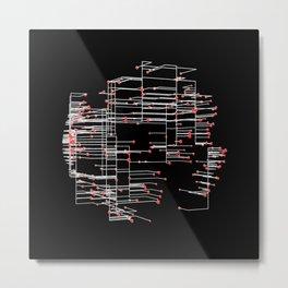 Grid Work Metal Print