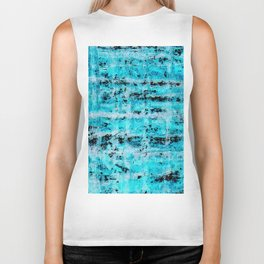 Color gradient and texture 24 blue and black Biker Tank