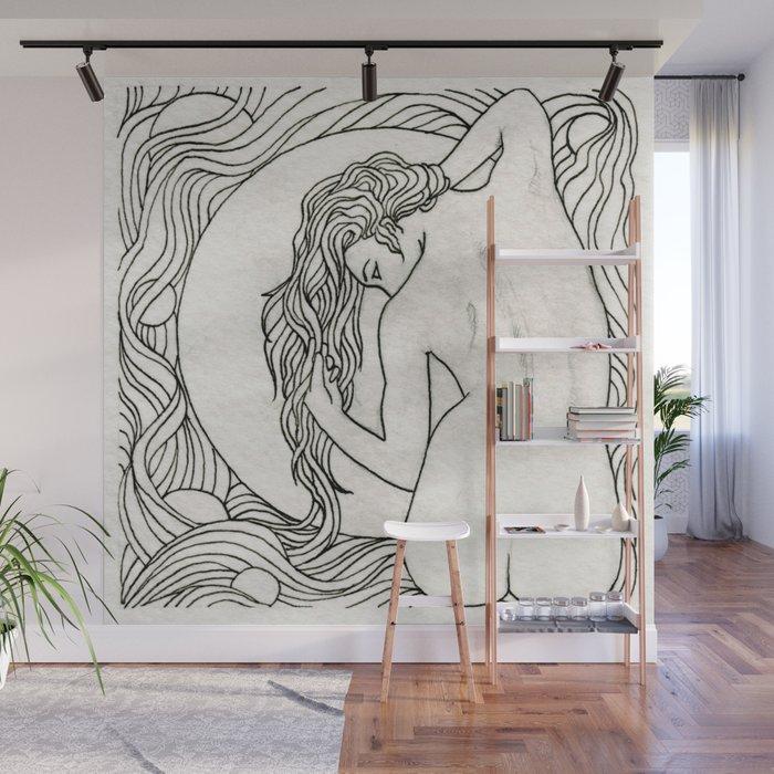 Hair Nouveau Wall Mural