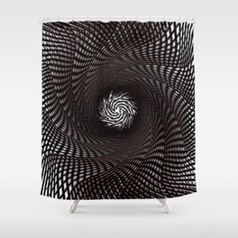 Turbine effect Shower Curtain