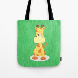 A happy giraffe Tote Bag