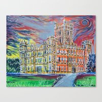 downton abbey Canvas Prints featuring Downton Abbey by Laura Hol Art