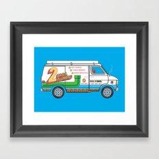 2 Bros. Plumbing Van Framed Art Print