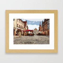 Green Market in Fürth Framed Art Print
