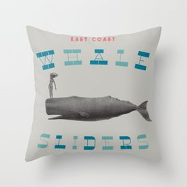 Whales Slider Throw Pillow