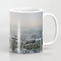 prague Mugs featuring Prague by BriAnneWills