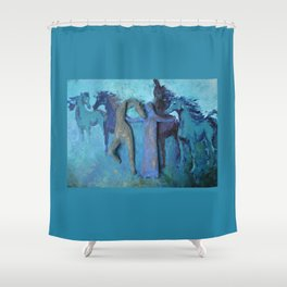 Celestial Guidance Shower Curtain