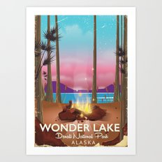 Wonder Lake, Denali national park Alaska Art Print