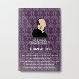 The Sign of Three - Mycroft Holmes Metal Print