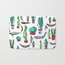 Cactus and Whales Bath Mat