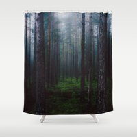 sleep Shower Curtains featuring I will make you sleep by HappyMelvin