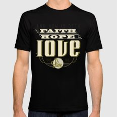 The Greatest of These Is Love Black MEDIUM Mens Fitted Tee