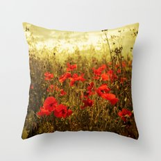 Poppy Glow Throw Pillow