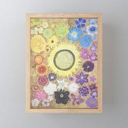 Rainbow of flowers Framed Mini Art Print