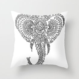 The Elephant Mask Throw Pillow