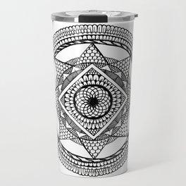 Abstract Mandala black Travel Mug