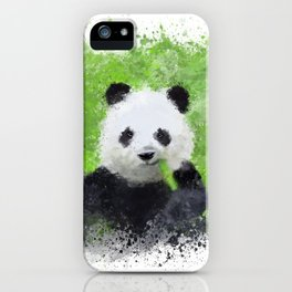 Panda eating bamboo iPhone Case