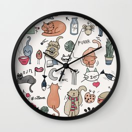 Cats Life Wall Clock